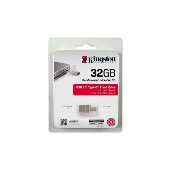 Kingston DataTraveler microDuo 3C 32GB USB 3.0/USB-C  (DTDUO3C/32GB)