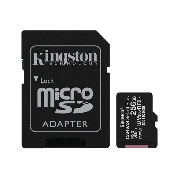 Kingston microSDXC Canvas SeIect Plus 256GB UHS-I/A1/C10 (SDCS2/256GB)